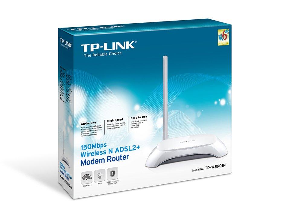 راهنمای تنظیم مودم TP-LINK مدل TD-W8901N