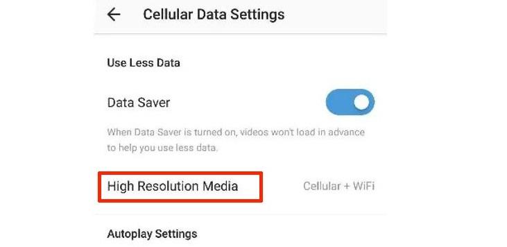 کاهش مصرف اینترنت اینستاگرام برای کاربران اندروید